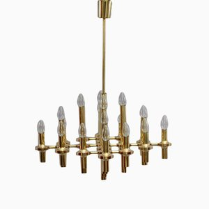 Modernist Chandelier by Gaetano Sciolari, 1970s