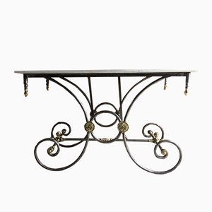 Antique French Marble Pastry Table