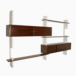 Italian Rosewood Extenso Wall Unit from Amma, 1970s