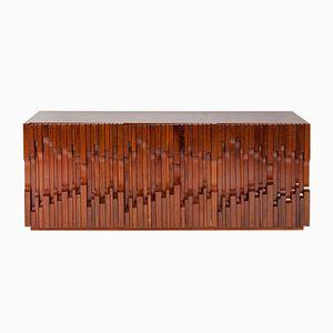Italian Norman Walnut Veneer Sideboard by Luciano Frigerio, 1972