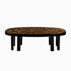 Resin & Tiger Eye Coffee Table by Etienne Allemeersch, 1979
