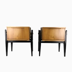 Mid-Century Nightstands by Alfred Hendrickx for Belform, 1950s, Set of 2