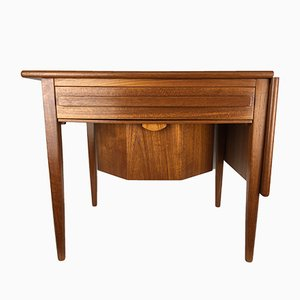 Mid-Century Danish Sewing Table with Drop Leaf by Johannes Andersen for CFC Slikeborg, 1960s