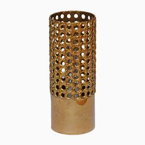 Pierced Brass Lamp by Pierre Fossell for Skultuna, 1970s