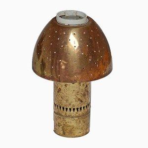 Schwedische Tischlampe aus gelochtem Messing von Hans Agne Jakobsson, 1960er