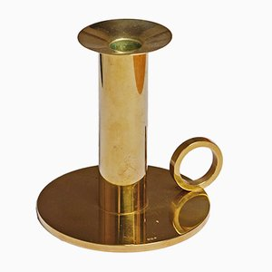 Vintage Brass Candleholder by Sigurd Persson