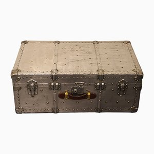 Mid-Century Polished Aluminum Steamer Trunk