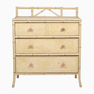 Vintage Bamboo Style Chest of Drawers