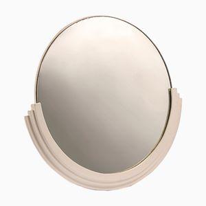Runder Art Deco Spiegel