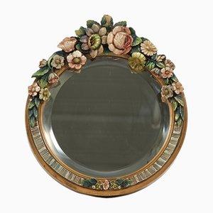 Angeschrägter Vintage Barbola Spiegel