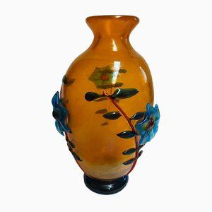 Murano Glas Vase von Franco Moretti, 1970er