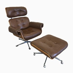 Rosewood Lounge Chair and Ottoman by Martin Stoll for Giroflex, 1960s