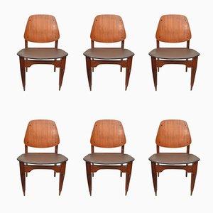 Italienische Vintage Stühle von Fratelli Proserpio, 1950er, 6er Set