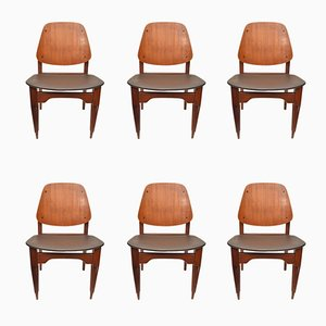 Vintage Italian Chairs by Fratelli Proserpio, 1950s, Set of 6