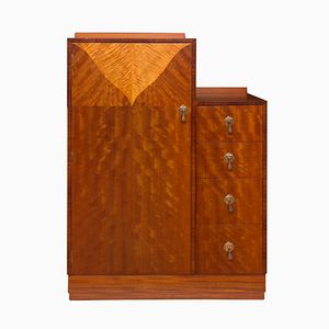 Art Deco Tall Boy Wardrobe from Maple & Co., 1930s