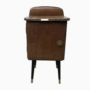 Plastic Coated Nightstand with Compass Legs, 1950s