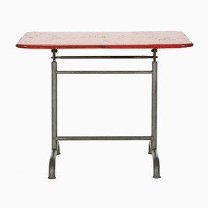 Tavolo da giardino rosso di Bigla, anni '30