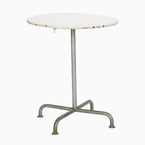 Tavolo da giardino bianco di Max Ernst Häfeli per Embru, anni '40