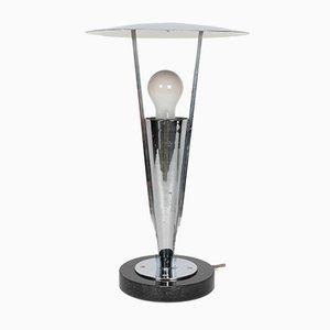 Chrom & Marmor Tischlampe, 1930er