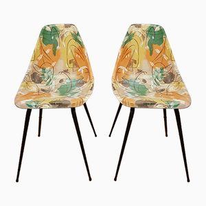 Stühle mit Cigogne Muster, 1950er, 2er Set