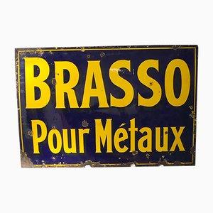 Insegna Brasso vintage smaltata, anni '30