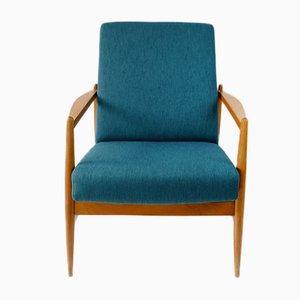 Mid-Century Teal Armchair