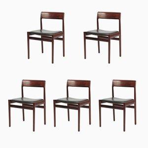 Palisander Stühle von Johannes Norgaard, 1960er, 5er Set