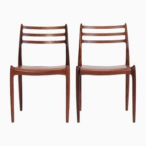 Modell 78 Stühle von Niels Otto Moller für J.L. Mollers, 1960er, 2er Set