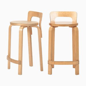 K65 Bar Stools by Alvar Aalto for Artek, 1930s, Set of 2