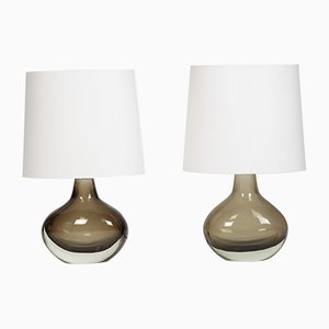 Vintage Sommerso Table Lamps by by Flavio Poli for Seguso, 1960s, Set of 2