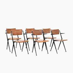Pyramid Chairs by Wim Rietveld for Ahrend de Cirkel, 1960s, Set of 6