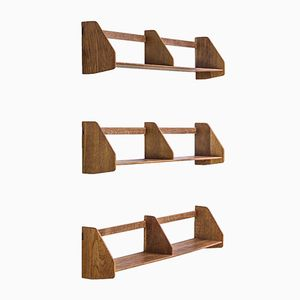 Oak Wall Mounted Shelves by Hans J. Wegner for RY Møbler, 1950s