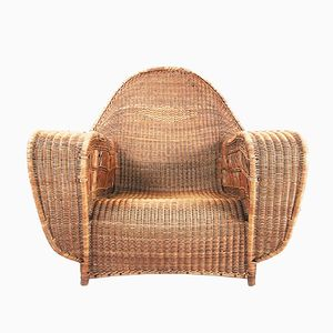 Wicker Lounge Chair, 1930s