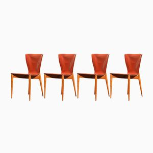 Vela Side Chairs by Carlo Bartoli for Matteo Grassi, 1970s, Set of 4