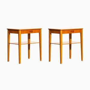 Teak Bedside Tables from Björkås Möbelfabrik, 1950s, Set of 2