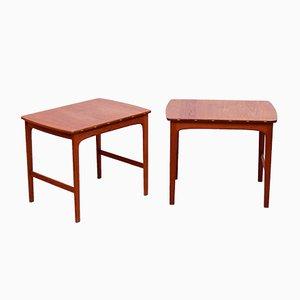 Teak Beistelltische von Yngvar Sandström für Säffle Möbelfabrik, 1960er, 2er Set