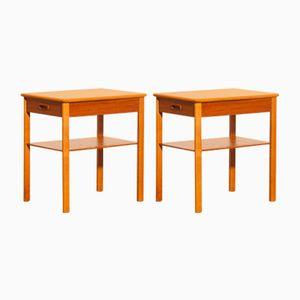 Teak Nachttische von Säffle Möbelfabrik, 1950er, 2er Set