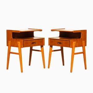 Model C Teak Bedside Tables, 1960s, Set of 2