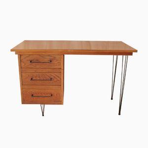 Eichenholz Schreibtisch, 1950er