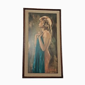 Mid-Century Framed Aurora Print by Betty Raphael, 1960s