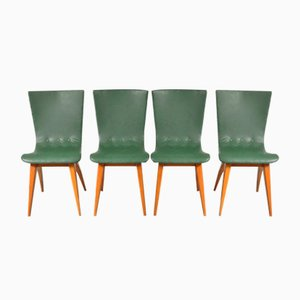 Niederländische Esszimmerstühle von van Oss, 1950er, 4er Set