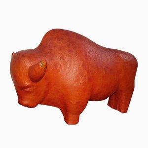 Sculpture Buffalo Vintage en Céramique par Kurt Tschörner pour Ruscha, 1960s