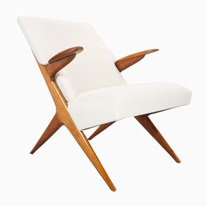 Scandinavian Elm Lounge Chair, 1950s