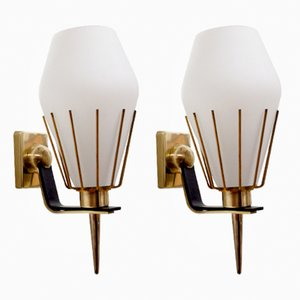 Italian Sconces by Angelo Lelli for Arredoluce, 1950s, Set of 2