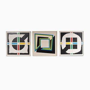 Siebdrucke von Shalom Lixenberg, 1980er, 3er Set