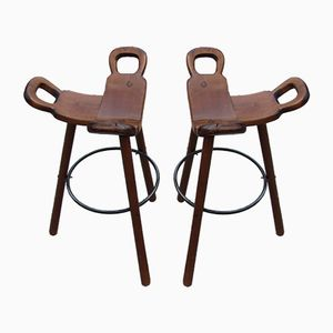 Spanish Marbella Bar Chairs, 1960s, Set of 2