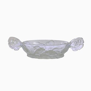 Art Deco French Verlys Glass Bowl with Fish from Société Holophane Français, 1930s