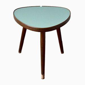 Grüner Vintage Dreibein Tisch