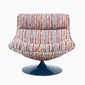 Model F518 Mid-Century Modern Swivel Chair by Geoffrey Harcourt for Artifort