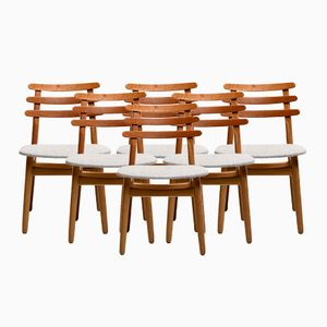 Vintage Model J48 Oak Dining Chairs by Poul Volther for FDB, Set of 6